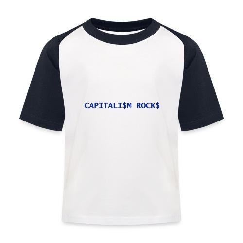 CAPITALISM ROCKS - Maglietta da baseball per bambini