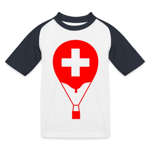 Gasballon im schweizer Design - Kinder Baseball T-Shirt