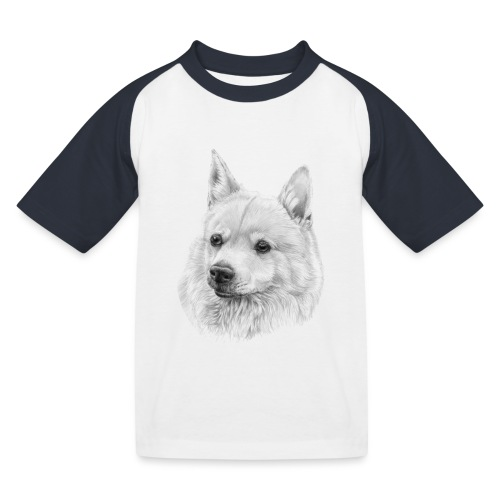 norwegian Buhund - Baseball T-shirt til børn