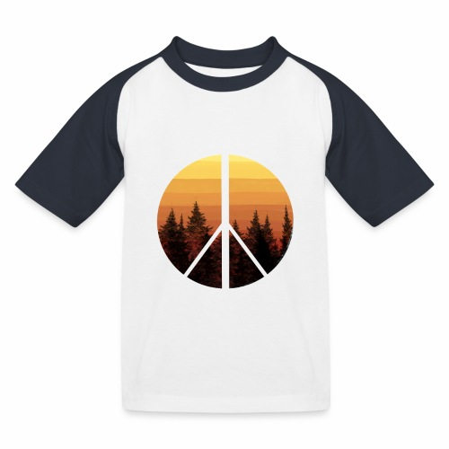 peace and sun - T-shirt baseball Enfant