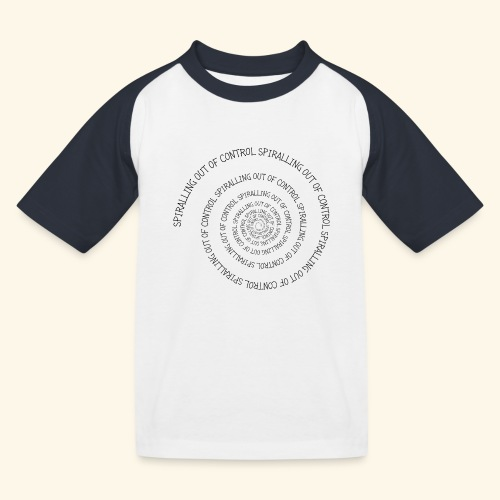 SPIRAL TEXT LOGO BLACK IMPRINT - Kids' Baseball T-Shirt