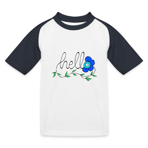 Hello Blume. - Kinder Baseball T-Shirt
