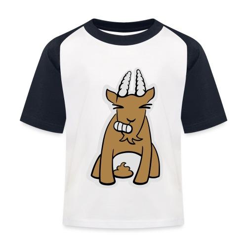 Scheissbock - Kinder Baseball T-Shirt