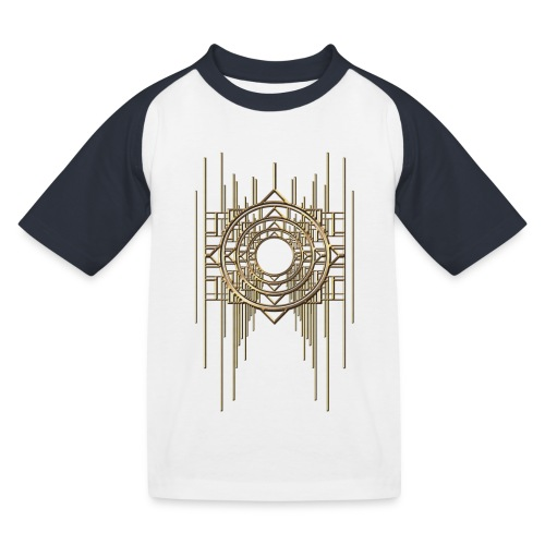Abstract Geometry Gold Metal Art Deco Vintage - Kids' Baseball T-Shirt