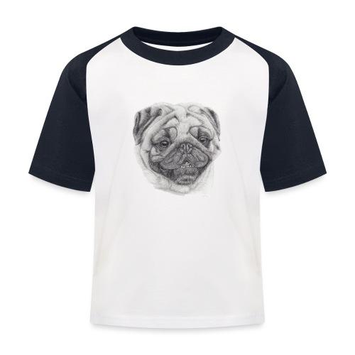 Pug mops 2 - Baseball T-shirt til børn