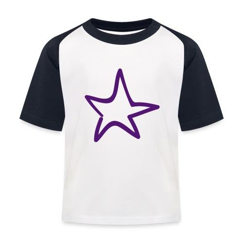 Star Outline Pixellamb - Kinder Baseball T-Shirt