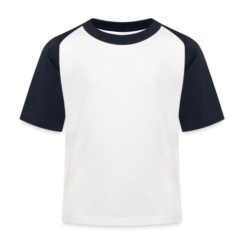 W, rak, svart - Baseboll-T-shirt barn