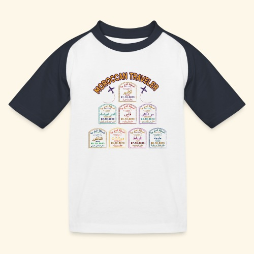 Moroccan Traveler - T-shirt baseball Enfant