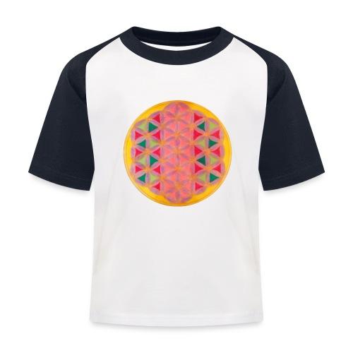 Blume des Lebens - Kinder Baseball T-Shirt