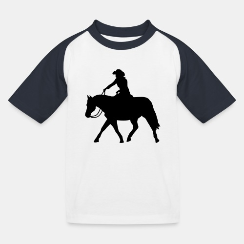 Ranch Riding extendet Trot - Kinder Baseball T-Shirt