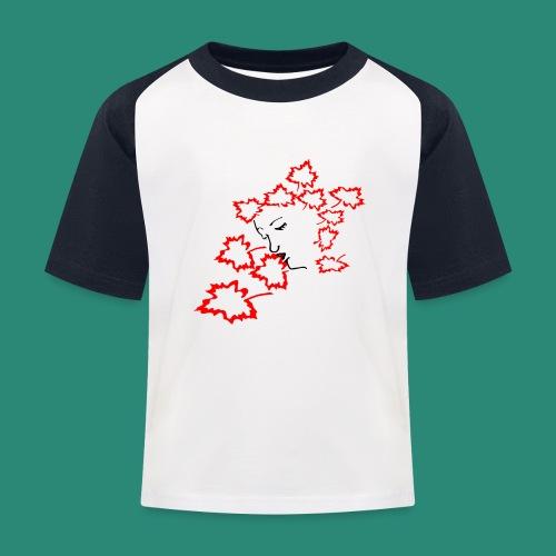 entblätterte Herbstfee - Kinder Baseball T-Shirt