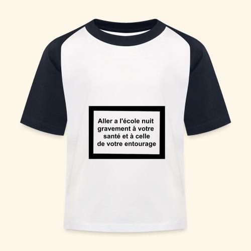 L'école tue - T-shirt baseball Enfant