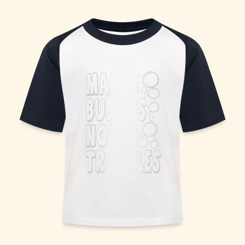 Bubbles003 - Kinderen baseball T-shirt