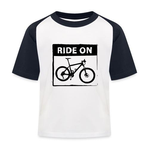 Ride On MTB 1 Color - Kinder Baseball T-Shirt
