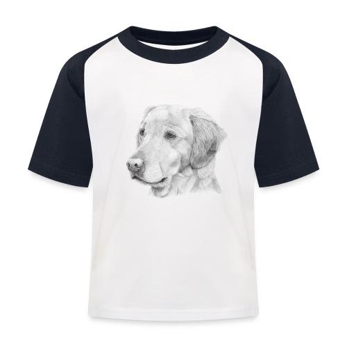 Golden retriever 2 - Baseball T-shirt til børn