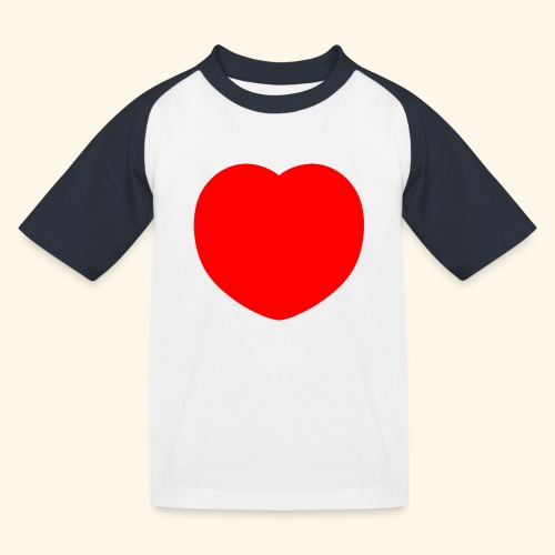 Heart - Kinder Baseball T-Shirt
