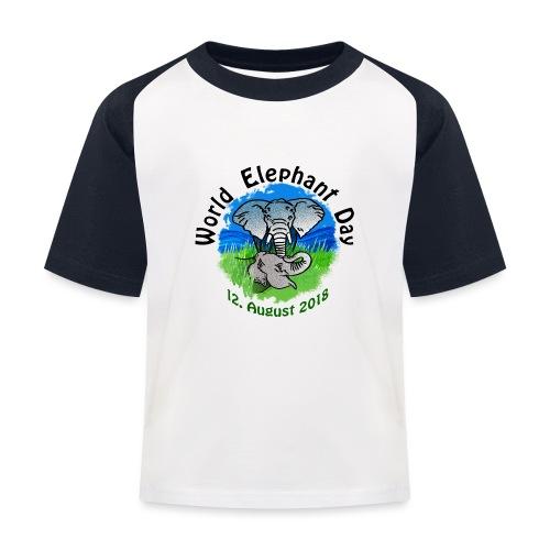 World Elephant Day 2018 - Kinder Baseball T-Shirt