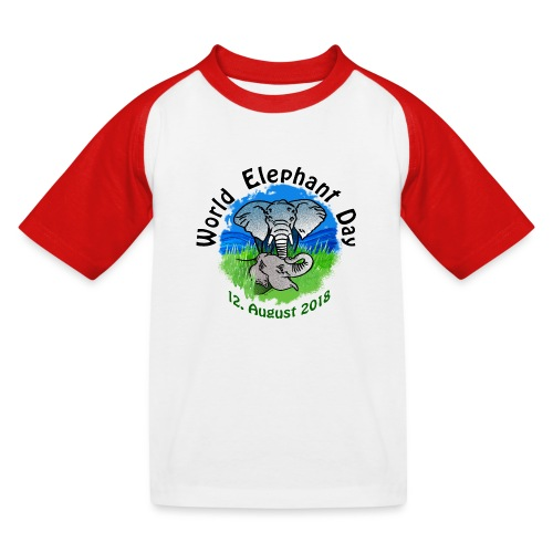 World Elephant Day 2018 - Kinder Baseball T-Shirt