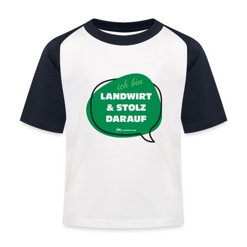 Landwirt und stolz darauf - Kinder Baseball T-Shirt