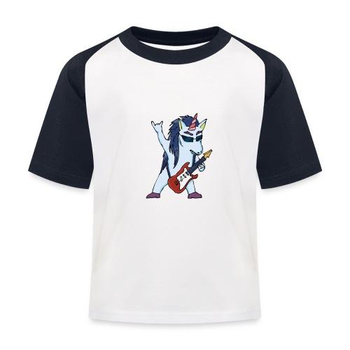 Licorne guitare metal couleur sans fond - T-shirt baseball Enfant