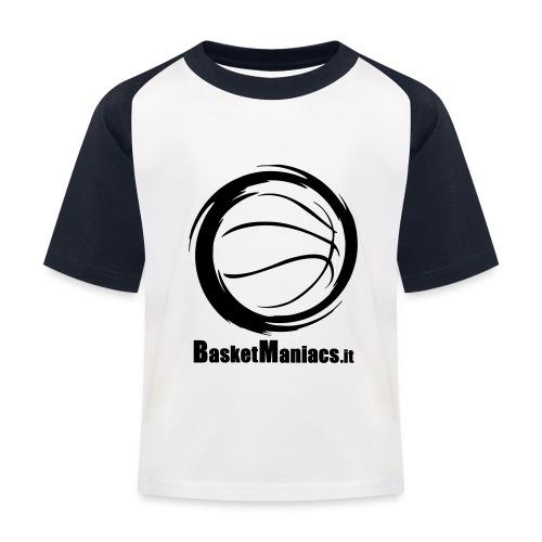 Basket Maniacs - Maglietta da baseball per bambini