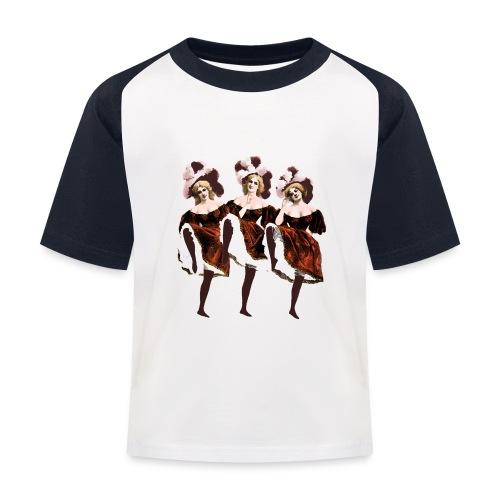 Vintage Dancers - Kids' Baseball T-Shirt