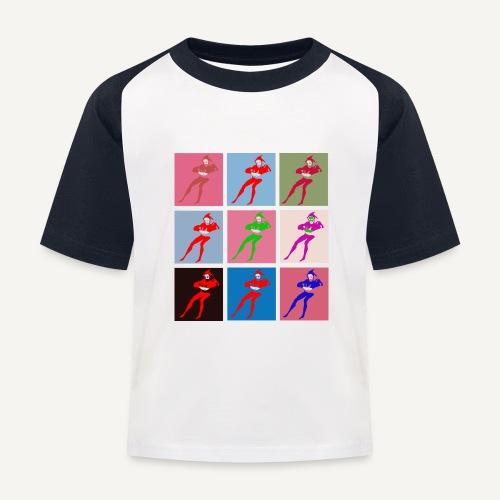 Stańczyk Warhol bez tla - Koszulka bejsbolowa dziecięca