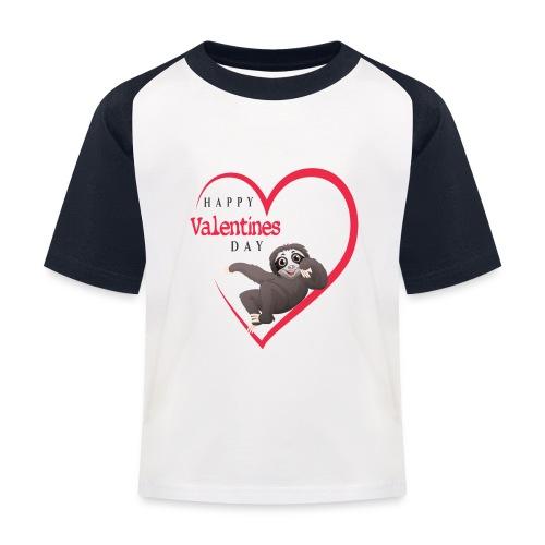 Sloth Valentines Day - Kinder Baseball T-Shirt