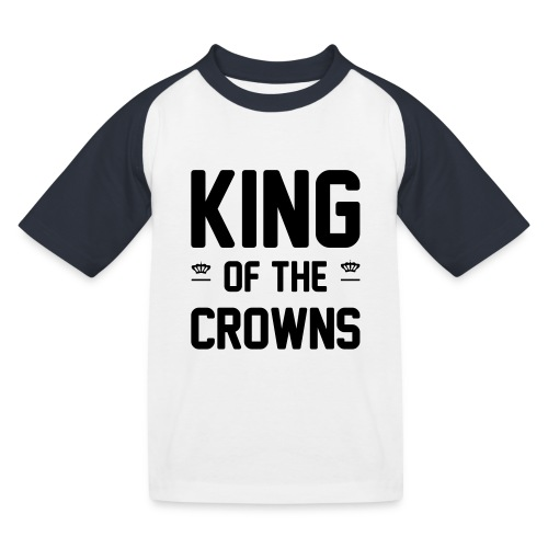 King of the crowns - Kinderen baseball T-shirt
