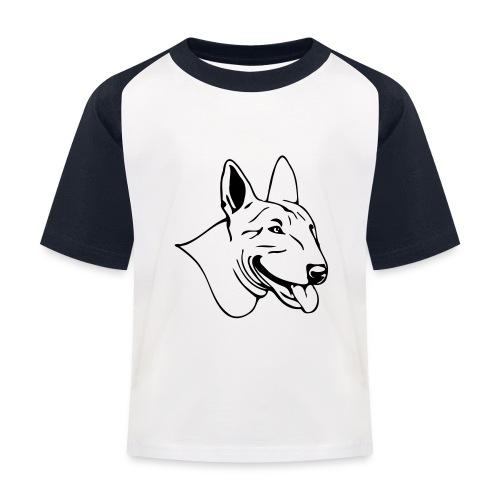 (189) freundlicher Bullterrier - Kinder Baseball T-Shirt