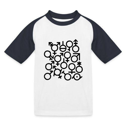 Multi Gender B/W - Kinderen baseball T-shirt