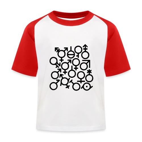 Multi Gender B/W - Kinderen baseball T-shirt