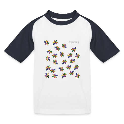 colour flower design tc - Kids' Baseball T-Shirt