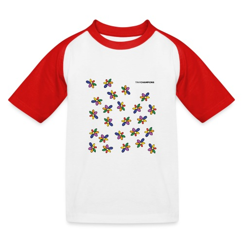 colour flower design tc - Kids' Baseball T-Shirt