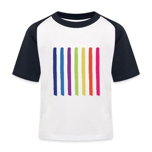 Linjer - Baseball T-shirt til børn