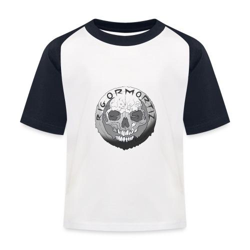 Rigormortiz Black and White Design - Kids' Baseball T-Shirt