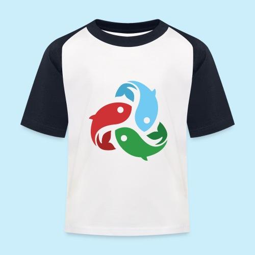 De fiskede fisk - Baseball T-shirt til børn