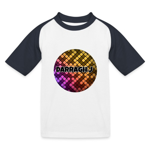 Darragh J logo - Kids' Baseball T-Shirt