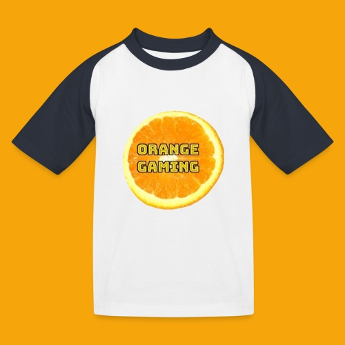 Orange_Logo_White - Kids' Baseball T-Shirt