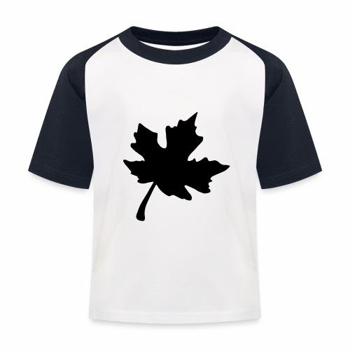 Ahorn Blatt - Kinder Baseball T-Shirt