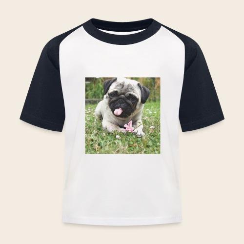 Mops Wiese - Kinder Baseball T-Shirt