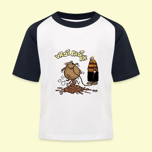 DIRKJAN Hondenpoep - Kinderen baseball T-shirt