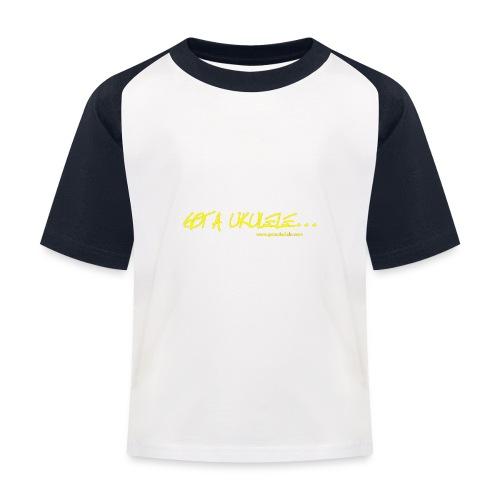 Official Got A Ukulele website t shirt design - Kids' Baseball T-Shirt