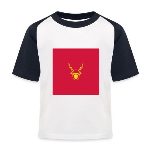scimmiacervo sfondo rosso - Maglietta da baseball per bambini