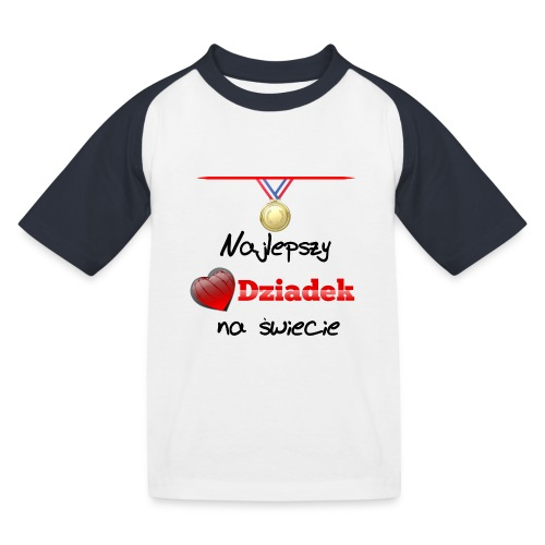 nadruk_rodzinne_01 - Koszulka bejsbolowa dziecięca