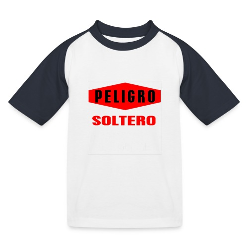 Peligro soltero - Camiseta béisbol niño