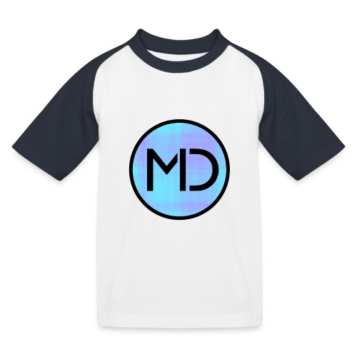 MD Blue Fibre Trans - Kids' Baseball T-Shirt