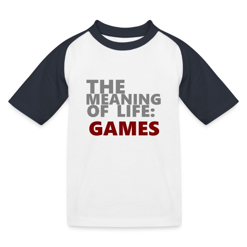 T-Shirt The Meaning of Life - Kinderen baseball T-shirt