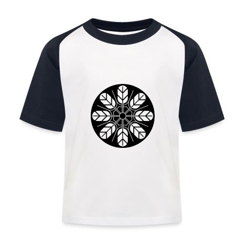 Inoue clan kamon in black - Kids' Baseball T-Shirt