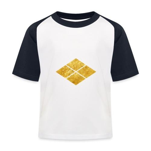 Takeda kamon Japanese samurai clan faux gold - Kids' Baseball T-Shirt